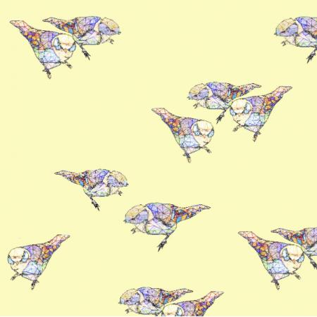 Tkanina 12110 | Sun Birds
