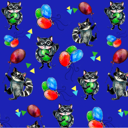 Tkanina 12121 | racoon baloon