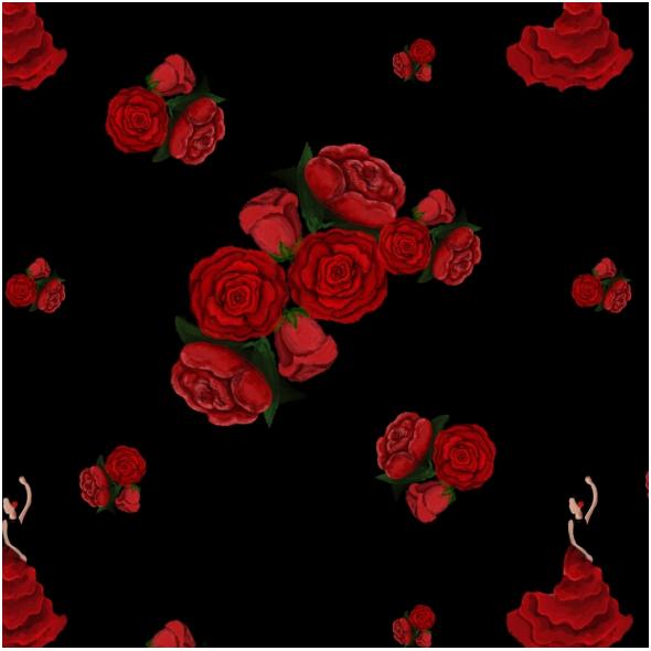 Fabric 12136 | Rosa, hiszpański kwiat