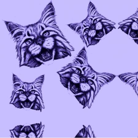 Fabric 12163 | koty robią miau