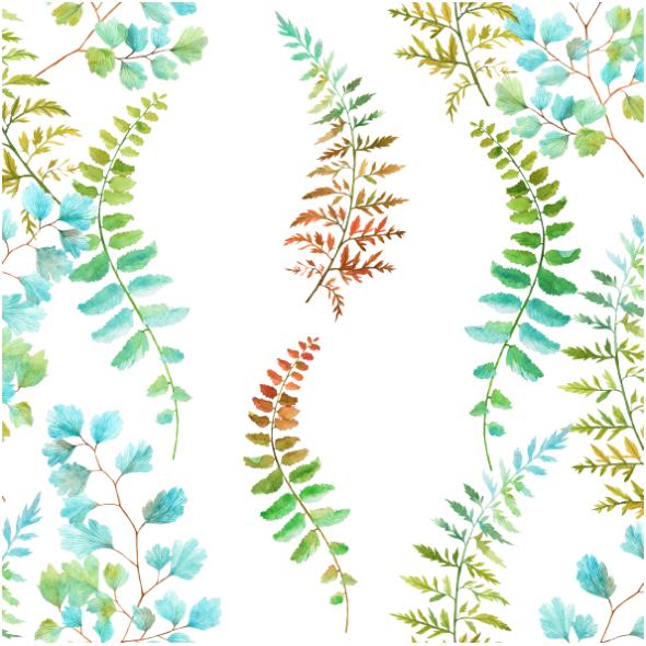 Fabric 12176 | paprotki pionowe