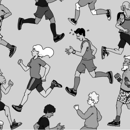 Tkanina 12196   biegacze