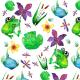 Fabric 12206   froggie