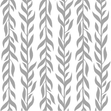 Tkanina 12225 | Szare listki pionowe