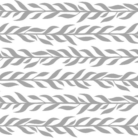 Tkanina 12226 | Szare listki poziome