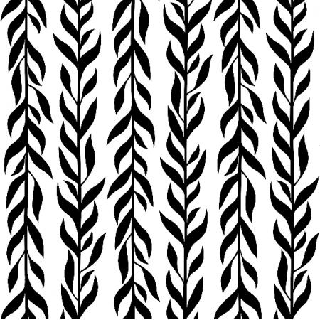 Tkanina 12231 | Czarne listki pionowe
