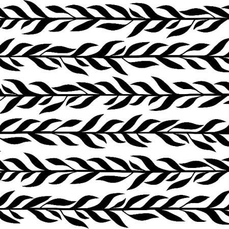 Tkanina 12232 | Czarne listki poziome