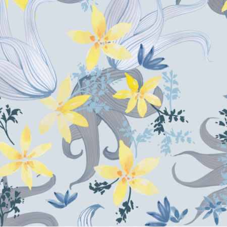 12283 | blue and yellow lilies