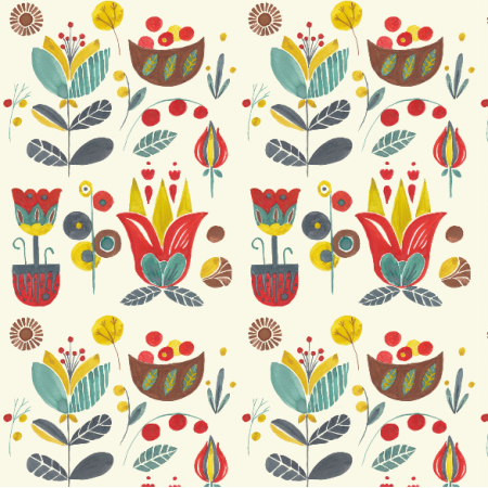 12285 | Nordic watercolour floral