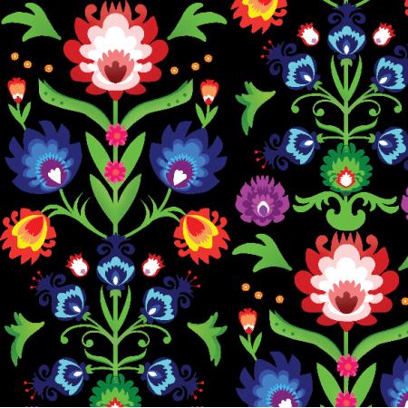 Fabric 12289 | folk - kompozycja