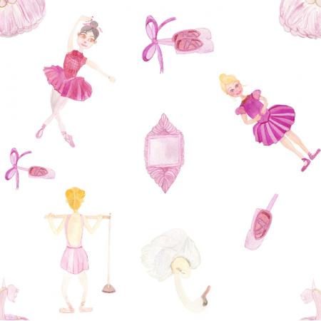 Fabric 12295   Little Ballerinas
