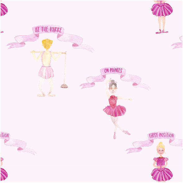Tkanina 12299 | On Pointes Ballet