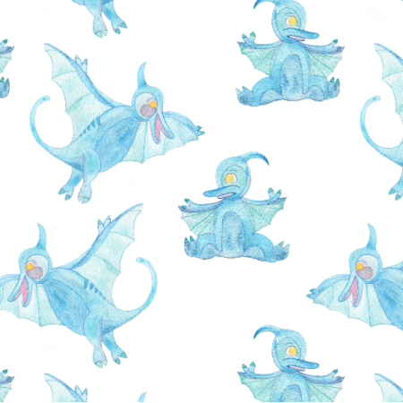 Fabric 12302 | Blue Pterodactyl