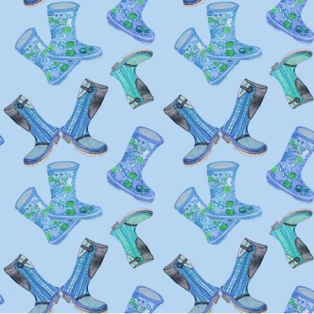 Tkanina 12304 | Blue Rain Boots