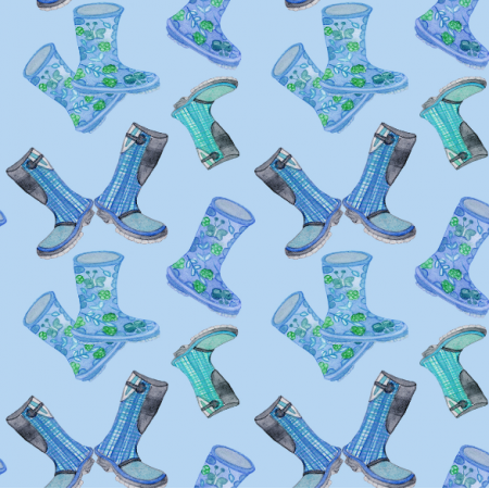 12304 | Blue Rain Boots