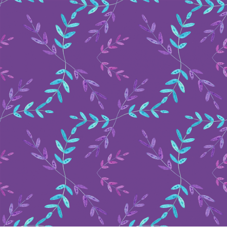 Fabric 12310 | Elegant Purple Leaves Shades