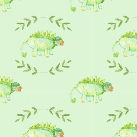 Fabric 12314 | Green dinosaur