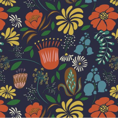 Fabric 12328 | Night garden