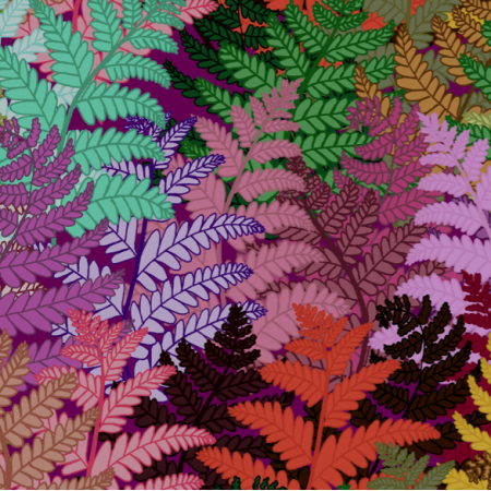 Fabric 12343 | ferns lily
