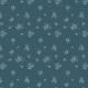 Tkanina 12346 | white ink flowers on navy