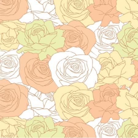 12353 | kwiatowy wzór - Pastelowe Róże