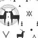 Fabric 12364 | geometric deer 1