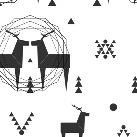 Fabric 12364 | geometric deer 1