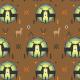 Fabric 12365   geometric deer 2