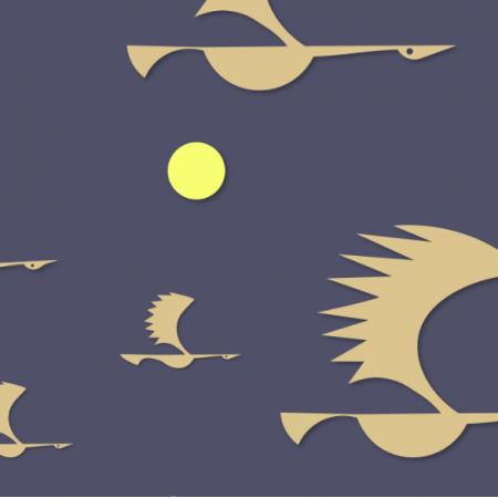 Tkanina 12378 | ptaki 5
