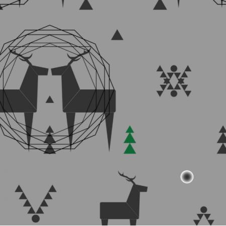 Fabric 12379 | geometric deer 3