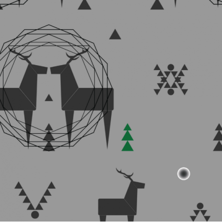 Fabric 12379 | geometric deer 3