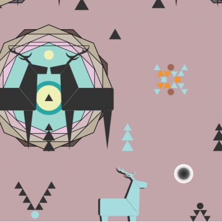 12381 | geometric deer 5