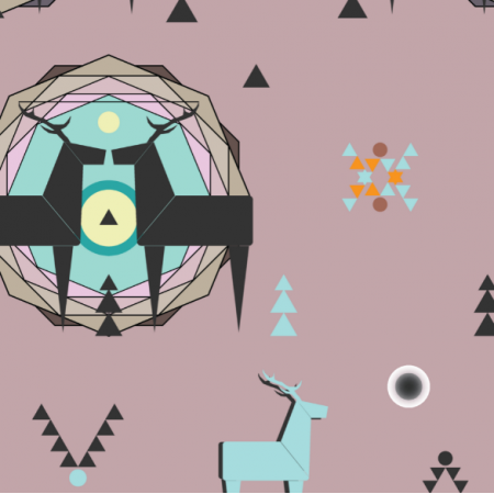 Fabric 12381 | geometric deer 5