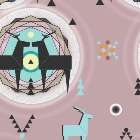 12382 | geometric deer 6