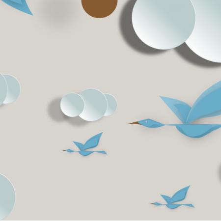 Tkanina 12393 | sky birds 4