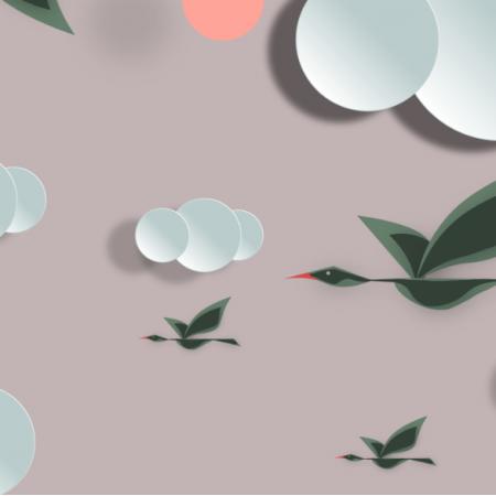 Fabric 12395 | sky birds 2