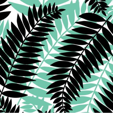 Tkanina 12396 | Lei zielone liście Paproci
