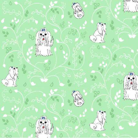 Fabric 12466 | Maltańczyki (zielone tło)