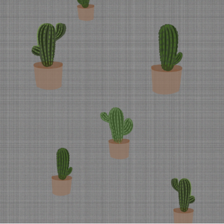 Fabric 12472 | canvas with cactus