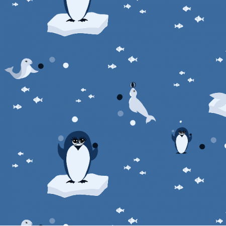 Fabric 12486 | Pingwiny i Foczki