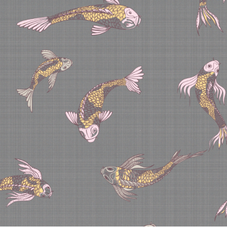 12554 | canvas with  japanese fishes 4