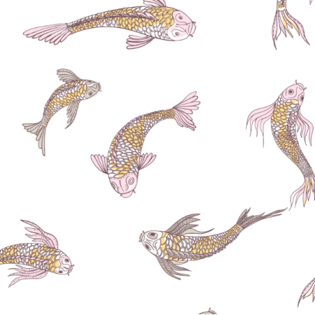 12555 | canvas with  japanese fishes 5