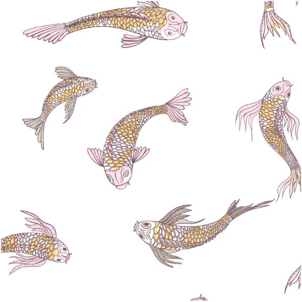 Fabric 12555 | canvas with  japanese fishes 5