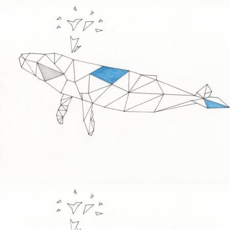 Tkanina 12577 | geometryczny Wieloryb