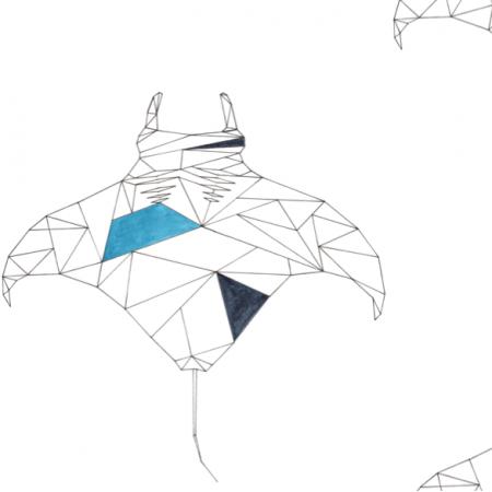 Tkanina 12579 | Geometryczne manty