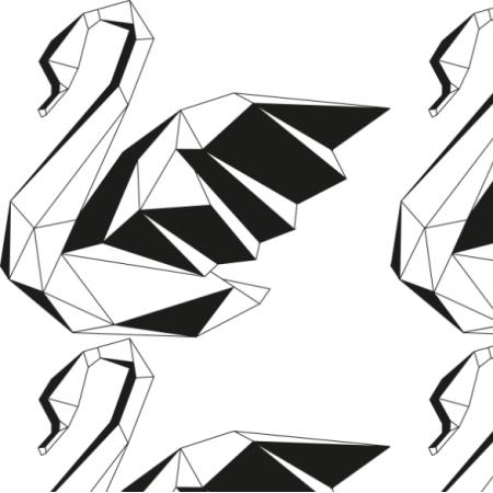 Fabric 12595 | origami swan