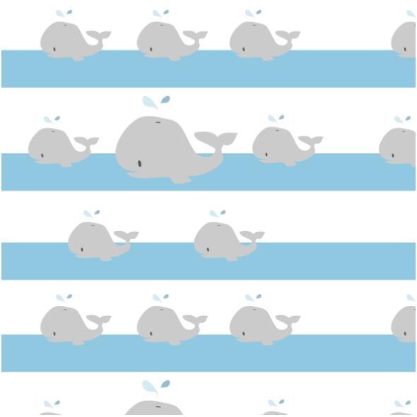Tkanina 12598   Wielorybki