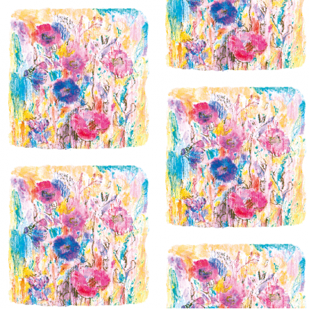 Tkanina 12630 | Meadow- colourfull floral pattern  0