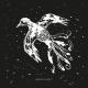 Tkanina 12665 | Flying Bird - black-white pattern for pillow