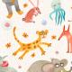Tkanina  | Happy animals